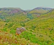 Ряд Drakensberg стоковые фотографии rf