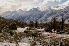 ряд patagonian горы Стоковая Фотография