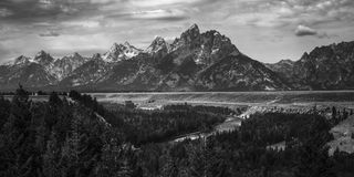 Ряд Teton скалистых гор стоковые фото