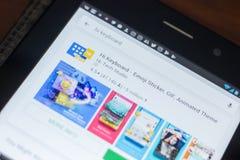 Рязань, Россия - 16-ое мая 2018: Высокий значок или логотип app клавиатуры в списке передвижных apps Стоковое Фото