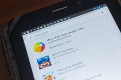 Рязань, Россия - 16-ое мая 2018: Значок или логотип Марко Поло app в списке передвижных apps Стоковые Изображения RF