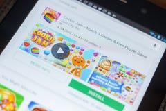 Рязань, Россия - 16-ое мая 2018: Значок или логотип app варенья печенья в списке передвижных apps Стоковая Фотография RF