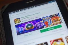 Рязань, Россия - 16-ое мая 2018: Значок или логотип app казино DoubleU в списке передвижных apps Стоковая Фотография RF