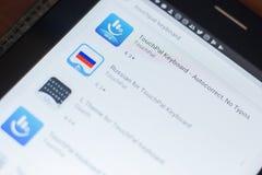 Рязань, Россия - 16-ое мая 2018: Значок или логотип app клавиатуры TouchPal в списке передвижных apps Стоковые Фото