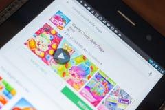 Рязань, Россия - 16-ое мая 2018: Значок или логотип app саги студня толкотни конфеты в списке передвижных apps Стоковые Изображения RF