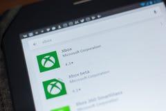 Рязань, Россия - 16-ое мая 2018: Значок или логотип Xbox app в списке передвижных apps Стоковая Фотография