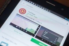 Рязань, Россия - 16-ое мая 2018: Значок или логотип YesPlayer app в списке передвижных apps Стоковое фото RF