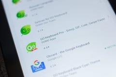 Рязань, Россия - 16-ое мая 2018: Идут значок или логотип app клавиатуры Pro в списке передвижных apps Стоковая Фотография