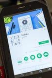 Рязань, Россия - 3-ье июля 2018: Sudoku передвижной app на дисплее ПК таблетки стоковое фото rf