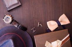 Ряд аксессуаров ` s людей моды Стоковая Фотография RF