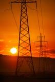 Башни передающей линии Стоковые Фото
