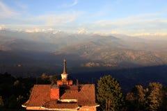 Ряд гор Гималаев Стоковое Изображение