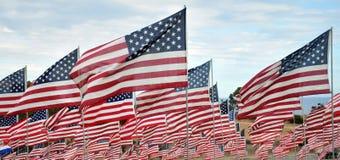 рядки американских флагов Стоковое Изображение RF