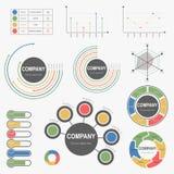 Ряд классики Infographics абстрактный для дела - вектора Стоковое Изображение RF