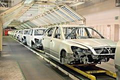 рядок завода автомобилей автомобиля Стоковые Фото
