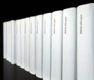 рядок изолированный книгами Стоковая Фотография RF