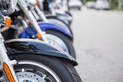 Рядок мотоциклов Стоковое Изображение RF