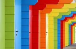 Рядок покрашенных пастелью chalets взморья Стоковое Фото