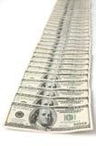 Рядок счетов доллара Стоковые Фотографии RF