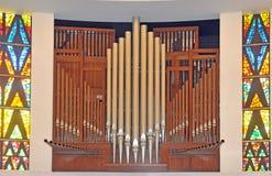 Ряды труб органа oipe Стоковая Фотография
