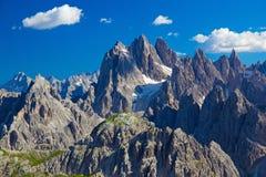 Ряд Cadini, доломиты, Италия Стоковое фото RF