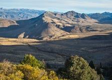 Ряд Carson, западная Невада Стоковое фото RF