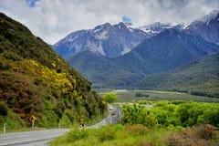 Ряд Craigieburn, Новая Зеландия Стоковая Фотография