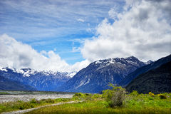 Ряд Craigieburn, Новая Зеландия Стоковые Изображения