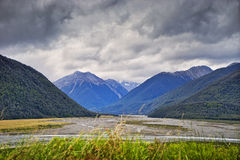 Ряд Craigieburn, Новая Зеландия Стоковое Изображение