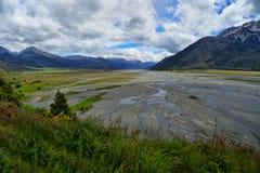 Ряд Craigieburn, Новая Зеландия Стоковое фото RF