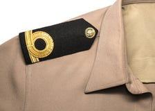 Ряд epaulet военно-морского флота подписывает внутри форму Стоковое фото RF