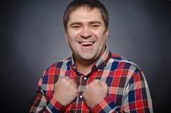 Рortrait młody uśmiechnięty mężczyzna Zdjęcia Stock