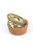 Сабля с сливк шоколада и сыром рокфора Стоковое Фото