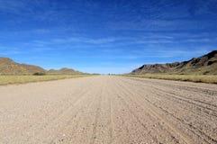 саванна дороги namib гор пустыни травянистая Стоковое Изображение RF