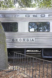 Саванна, 7-ое августа: Детали железнодорожной фуры от саванны в Georgia США Стоковое фото RF