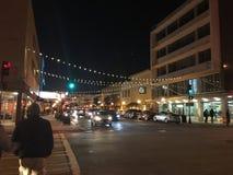 Саванна Georgia на ноче Стоковое Фото