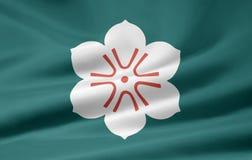 сага японии флага Стоковое Изображение