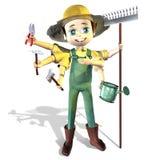 садовник хуторянина Стоковое Фото
