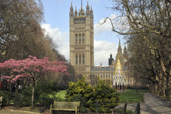 садовничает башня victoria westminster london Стоковое Изображение RF