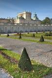 садовничает wilanow дворца Стоковые Фото