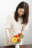садовничая женщина Стоковые Фото