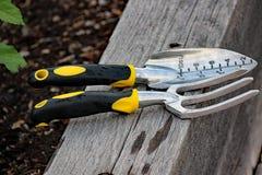 Садовничая инструменты используемые для крытого или внешнего Стоковое фото RF