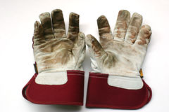 садовничая перчатки использовали работу стоковое фото