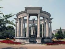 Сады Александры с мемориалом Welsh национальным Стоковое Изображение RF