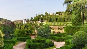 Сады замка Альгамбра Стоковые Изображения RF
