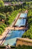 Сады замка христианского Alcazar de los монархов стоковая фотография rf