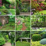 сады коллажа Стоковое фото RF