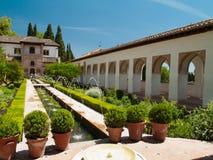 Сады Alhambra, Гранада, Испании Стоковая Фотография