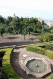 сады alhambra Стоковые Изображения RF