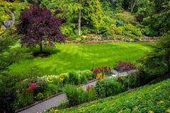 Сады Buschart в Виктории на острове ванкувер в Британской Колумбии Стоковое Фото